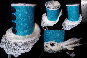 Steampunk Alice Top Hat by ADreamersImagination