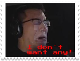 Markiplier - I do not want any! Stamp by SteffieNeko