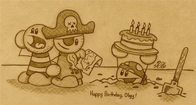 Pirate Birthday by AK-Is-Harmless