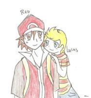 red n lucas. by SparxPunx