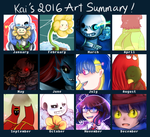 2016 Art Summary by XxkaibutsukoxX