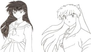 Inuyasha and Kagome by Akatsuki-lover16
