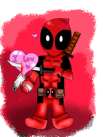 Chibi DeadPool by MiyeInsane