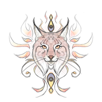 Crest Sketch 32: Red Lynx by andarix
