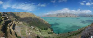 Lyttleton Harbour Pano by ThEReAlWaZzAr