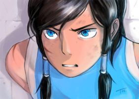 Korra's in trouble by thitiwatc