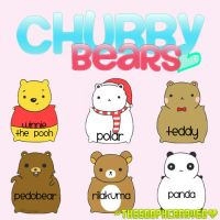 Chubby Bears PNG. ZIP by TheSoophCaraveo