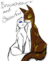 Braveheart and Snowfur by angelofdeath234