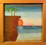 003 SUNSET - oil on canvas 20 X  20 cm 1000 x by StellaSFMusic