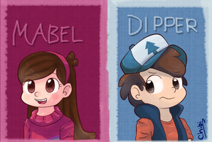 Gravity Falls - Mabel and Dipper by Sunnynoga