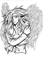 ANGEL CASSIEL LINEART by CAVAFERDI