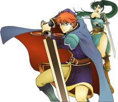 Eliwood and Lyndis by BuLhaNuL