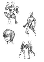 Human body practice 2 by whitechariot