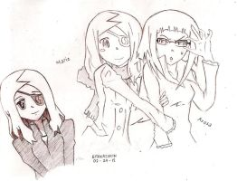 Marie and Azusa by lilredbleed