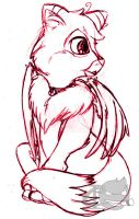 Baby Winged Fox by CrypticInk