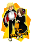 Happy Halloween from Arisa and Kane by KawaChou