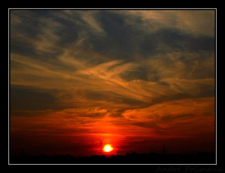 Sunset sky by M-e-t-a-t-r-o-n