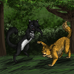 Commish: Playfighting by GingerFlight