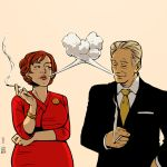 Mad Men Joan and Roger by Tallychyck