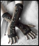 Gas Light Bondage Arm Warmers by ZenAndCoffee