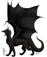Eclipse Dragon by PlumiiraCreature