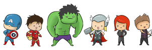 Chibi Avengers by superpsyduck