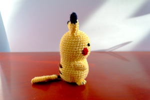 Amigurumi Pikachu Side View by FudgeNuggets
