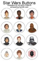 Star Wars Buttons by aimeezhou