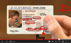 Anthony's New Driver's Licence! by Spider-Bagel