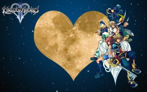 Kingdom Hearts II Wallpaper by Yugoku-chan