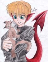 Dragon holding a kitty by GenkiShuichi