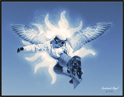 Snowboard Angel Wallpaper by Andre99