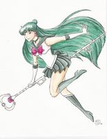 Sailor Pluto watercolor by TriaElf9