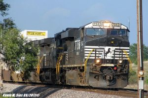 NS 7542 leads NS 21T Intermodal Train by EternalFlame1891
