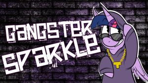 Gangster Twilight Sparkle: Wallpaper by Paris7500