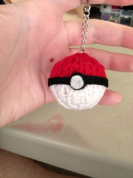 Pokeball key chain by PhileasFogghorn