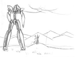 Mech Landscape Sketch by ARKARY