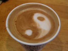 Yin Yang Latte by MonkDrew