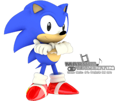 3D Render Classic Sonic Cool Pose 1 by marvinvalentin07