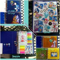 My Sonic Customized Small Binder :) by SupaSilver