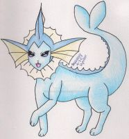 Vaporeon by ShonaMaryDesigns