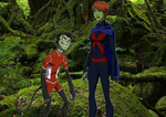 beast boy and miss martian by InfamousSubZero