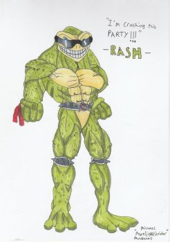 Battletoads/Killer Instinct Rash Fanart by MoonlightStrider