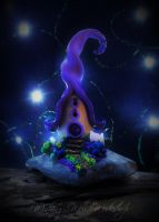 Polymer Clay Evening Fairy House by missfinearts
