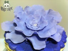 Purple Fondant Fantasy Flower by Corpse-Queen