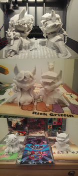 Sly Cooper And Carmelita Fox 3D printed bust by skyian