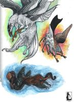 Gryphon Morphs by mittenstheninjakitty