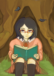 A nice day for reading by Chaho-Chi