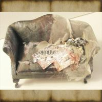 Miniature Abandoned Couch by grimdeva