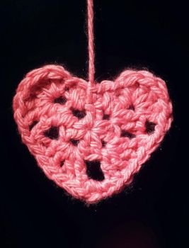 Crocheted Love Heart by OdeeQuack